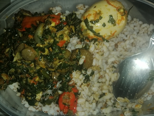 Brown rice and Pumpkin Vegetable