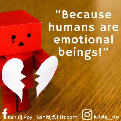 It's about time, we understood the importance of emotional well being.