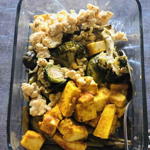 Paneer egg and veggies
