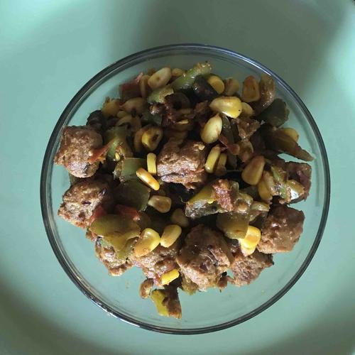 Soya corn & bell pepper masala