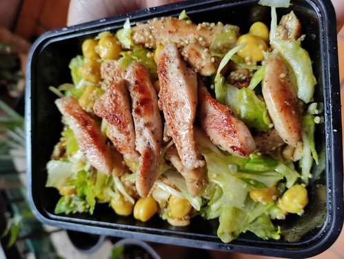 Chickpea Quinoa and Chicken Salad