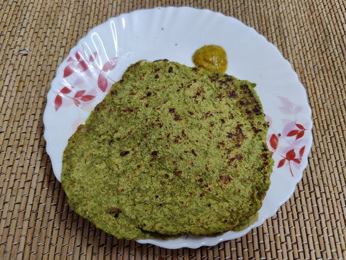 Green moong peas chilla