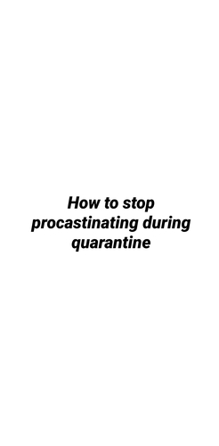 How to get any work done when you've procrastinated it enough.