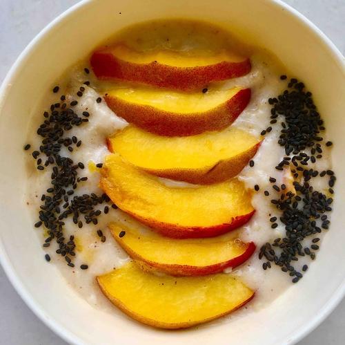 Peach Oatmeal 🍑