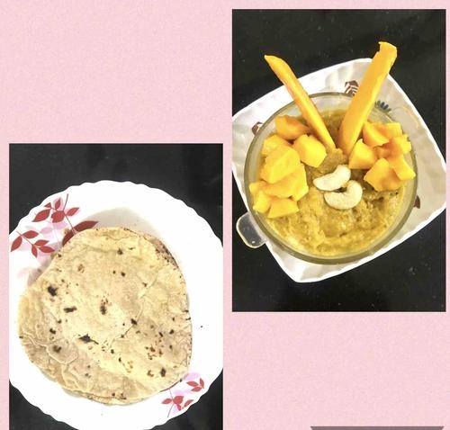Mango rabdi from leftover rotis