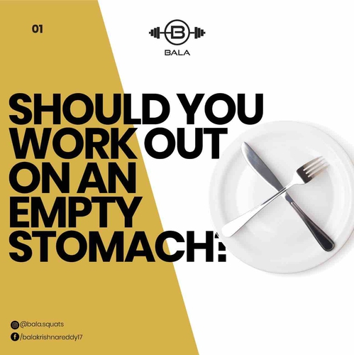 Should you workout on an empty stomach?