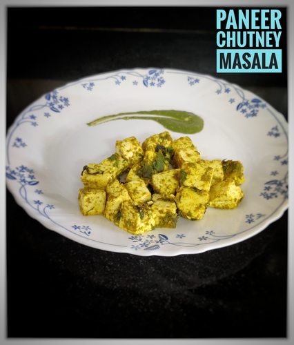 Simple Paneer Chutney masala