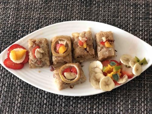 Fruit punch Varai khandavi    (वरीचि खांडवी)