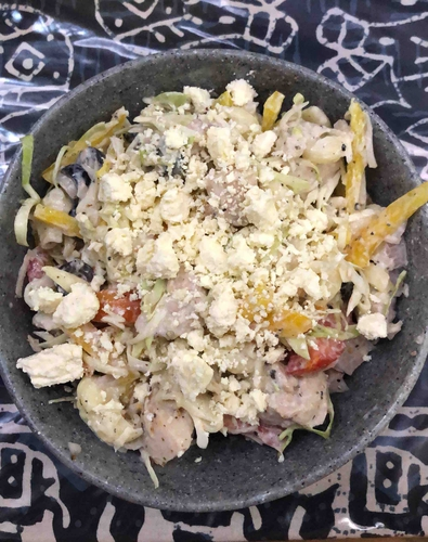 Chicken Macaroni Salad with Feta