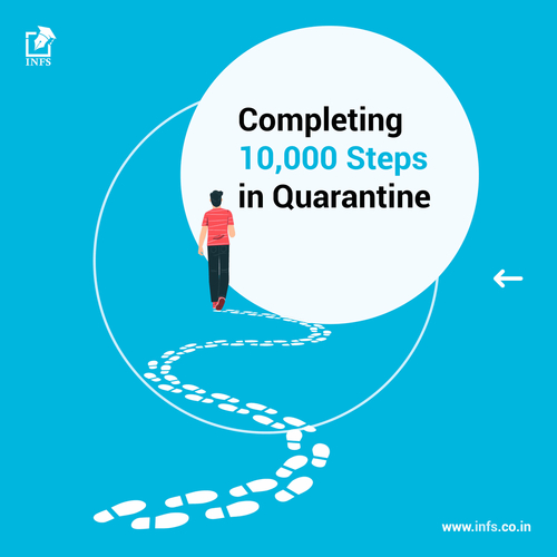 Completing 10,000 steps in Quarantine
