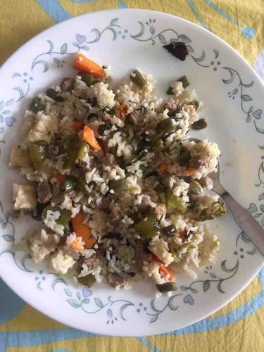 paneer soya rice