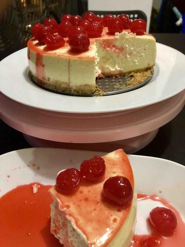 baked cheesecake sugar free ( keto friendly) servings 5-6 slices