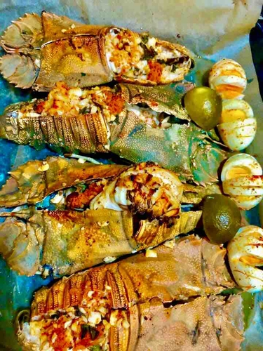 slipper lobster stuffed and baked