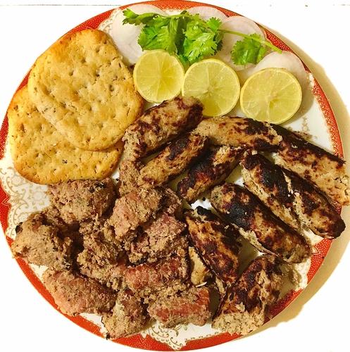 Mutton Kebab and Tikka platter