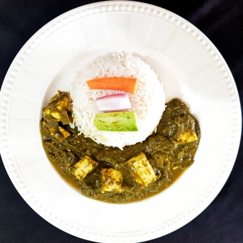 Palak Paneer & steamed rice