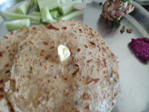 Stuffed rajma paratha's
