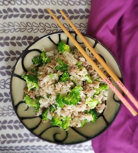 Brocolli and Chicken stir fry