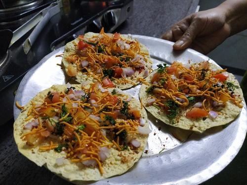 healthy roasted masala papad