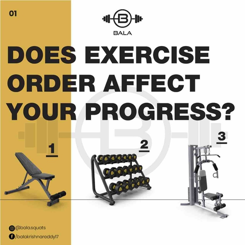 Does exercise order affect your progress?