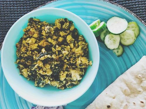 Chicken kheema with Spinach.