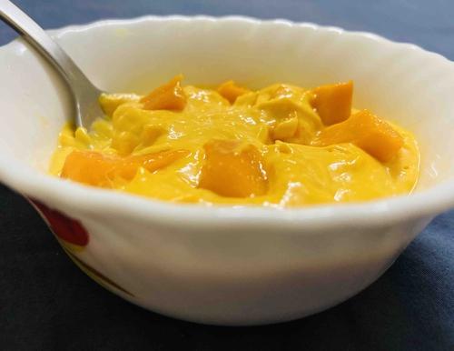 whey mango mousse