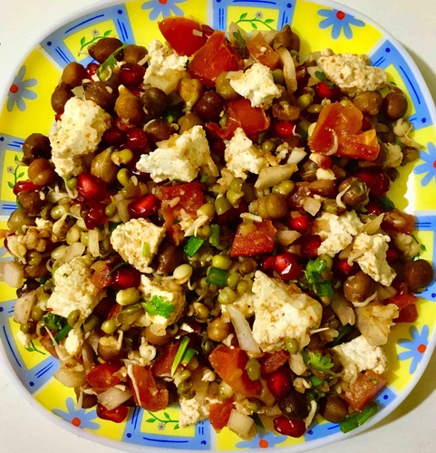 Sprouts Paneer Salad