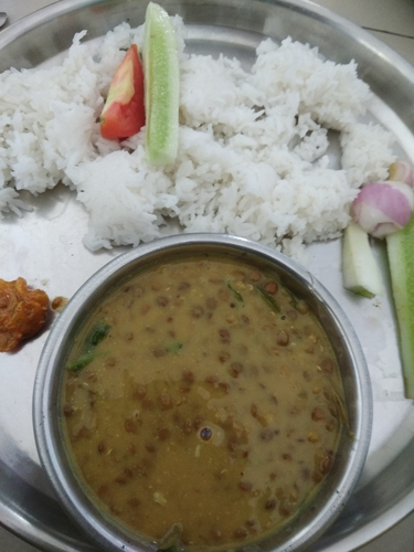 Masoor की दाल with a twist /बटकर/red lentil whole