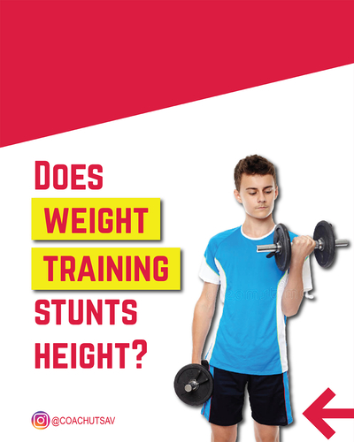 Does weight training stunts height?