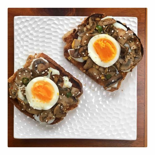 Soft Boiled Egg & Mushrooms Toastie