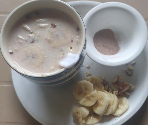 Mix Dryfruits-Banana Protine Milk Shake