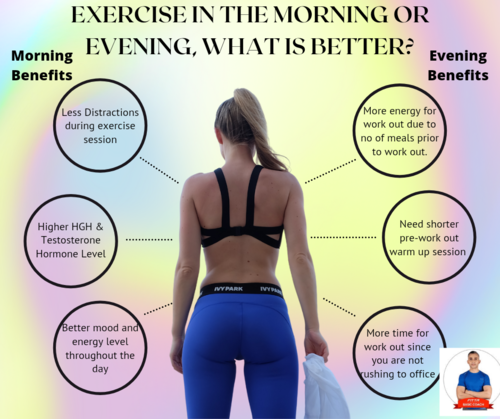 MORNING EXERCISE / EVENING EXERCISE – WHICH ONE IS BETTER FOR ME?