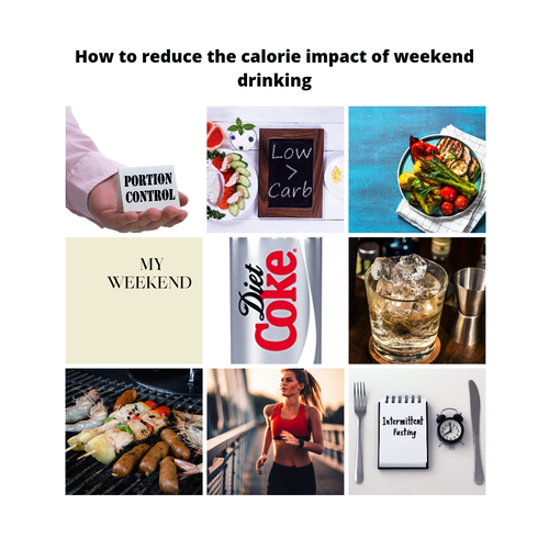 DIET TIPS ON HOW TO REDUCE THE CALORIE IMPACT OF OCCASIONAL / WEEKEND DRINKING
