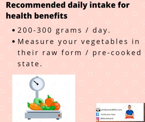 Should We Track Our Vegetable Intake?