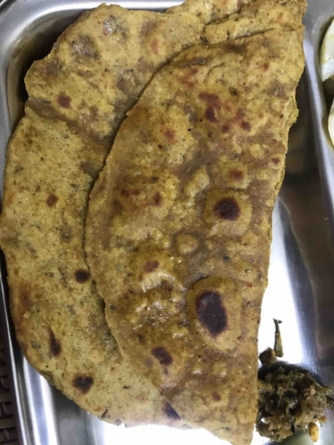 Sattu (roasted gram flour) & wheat paratha