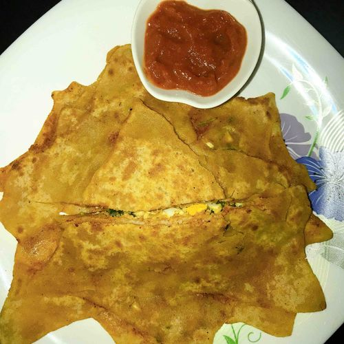 Egg stuffed paratha