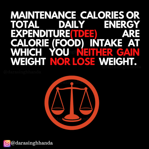 'My Maintenance calories' confusion!