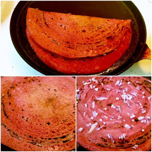 BEETROOT-MILLETS DOSA