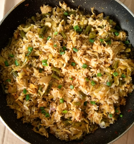 Green Beans Fried Rice (Serve 2)