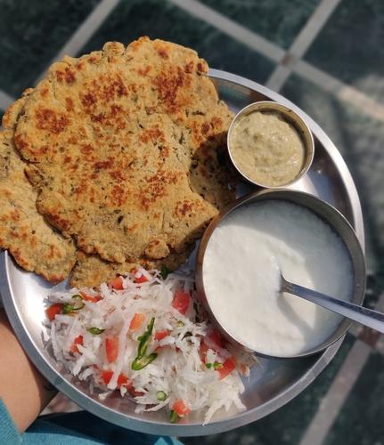 Soya & Wheat flour parathas