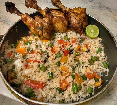 Rice & drumsticks