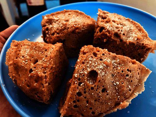 protein mocha cake