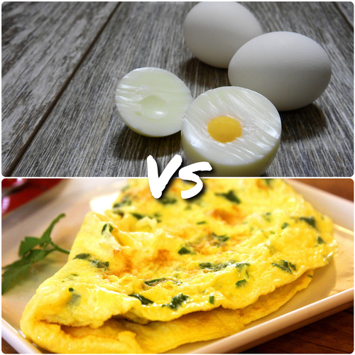Which one is better for fat loss : Boiled eggs or Omelette?