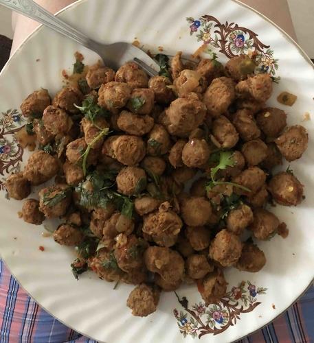Pan fried Soya chunks