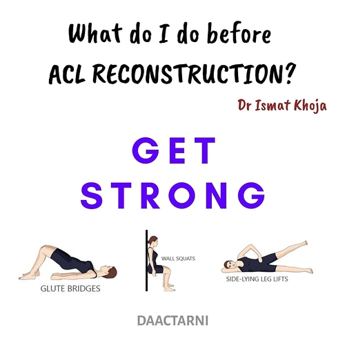 ACL Tear --- What do I do before reconstruction?