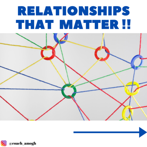 Relationships that matter !!