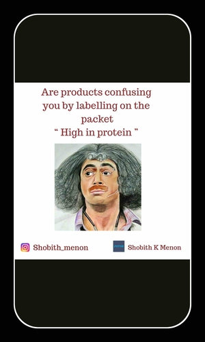 """Don't fall for """"High in Protein"""" written on the packets."""