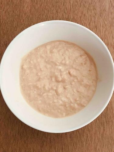 Breakfast oats with half scoop whey