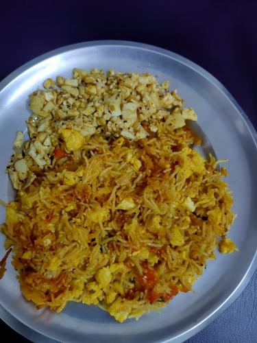 Paneer Briyani with White eggs fried