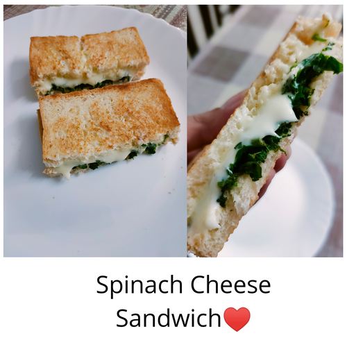 Spinach Cheese Sandwich