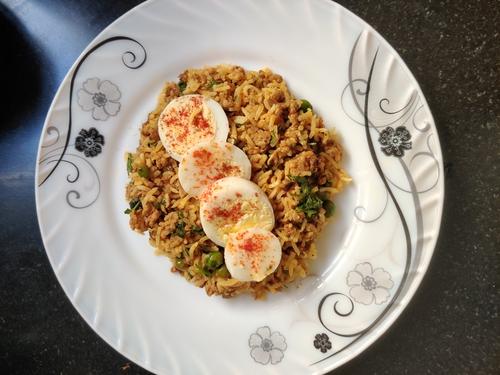 Chicken keema rice